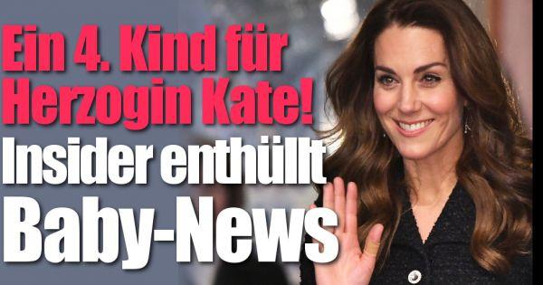 Kate Middleton und Prinz William: Familienzuwachs bei Herzogin Kate! Royals-Insider enthüllt freudige Baby-News