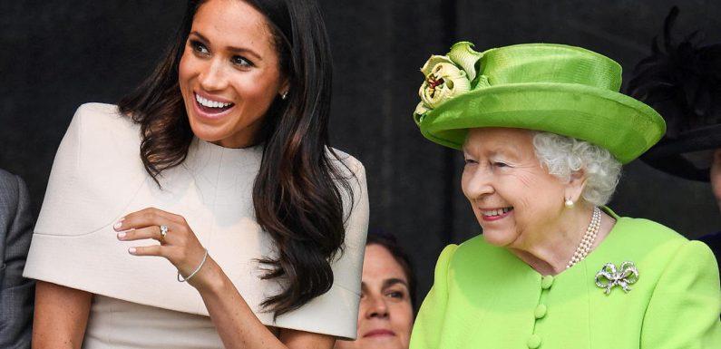 Meghans rührender Moment mit der Queen – Video aufgetaucht