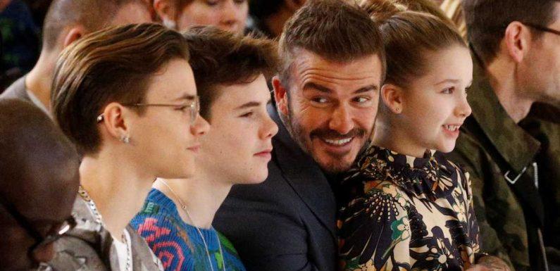David Beckham & Familie: Abgefahrenes Ostern mit Hasenohren & Küken-Kostüm