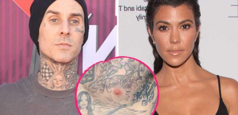 So ernst? Travis hat Kourtney Kardashians Namen tätowiert!