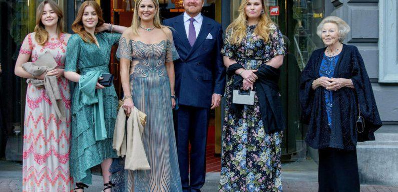 Zu Ehren von Königin Máxima: Glamouröser Auftritt der niederländischen Royals