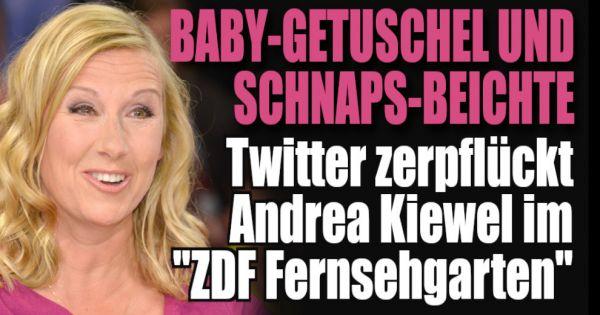 """""""ZDF Fernsehgarten"""" in der Twitter-Kritik: Andrea Kiewel zwischen Baby-Gerüchten und Schnaps-Beichte"""
