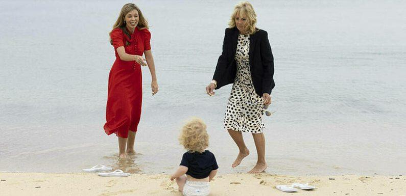 Carrie Johnson und Jill Biden: Die First Ladys beim Strandbesuch