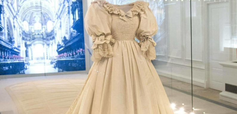 Hochzeitskleid von Prinzessin Diana im Kensington Palast ausgestellt