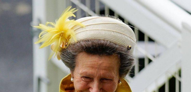 Prinzessin Anne strahlt im gelben Kostüm mit besonderem Schmuckstück