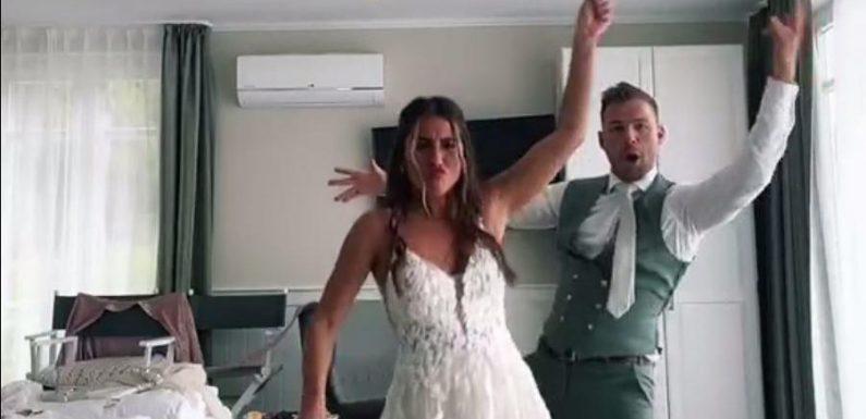 Verrücktes Brautpaar: So wild lassen es Sarah Engels und ihr Julian im Wedding-Look krachen