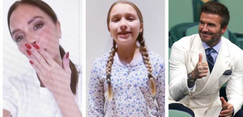 Harper Beckham: So süß gratulieren Mama & Papa zum 10. Geburtstag