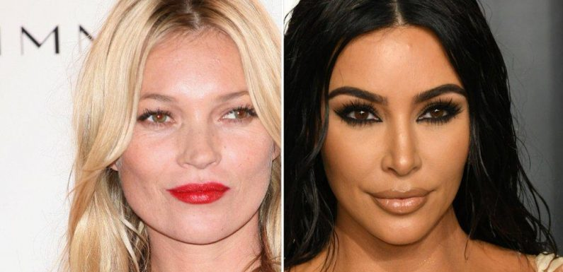 Kate Moss modelt oben ohne für Freundin Kim Kardashian