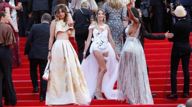Oben ohne und Statementkleid: Die Looks aus Cannes