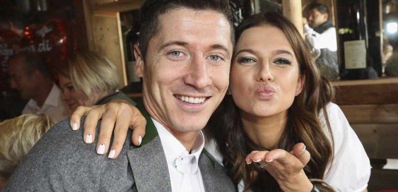 Robert Lewandowskis Frau teilt ungewöhnliches Kussfoto
