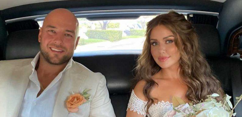 Ein Traum aus Spitze: Kim Gloss zeigt ihr Hochzeitskleid