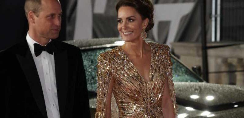 Herzogin Kate bei der 007-Premiere: Das steckt hinter ihrem tollen Goldkleid