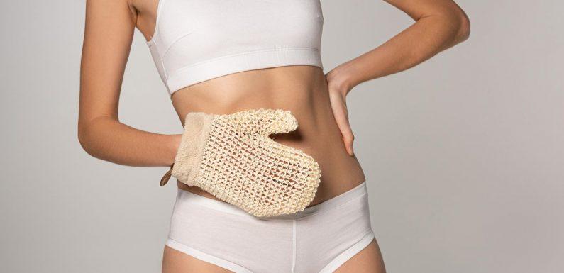 Peelinghandschuh: Tschüss raue Haut und Cellulite!