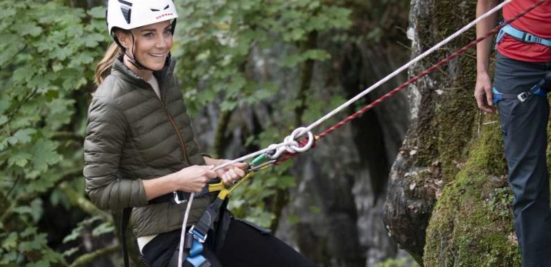 Radeln, klettern, Boot fahren: Herzogin Kate ist in Action