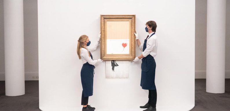 """""""Girl with Balloon"""": Geschreddertes Banksy-Werk wird in London versteigert"""