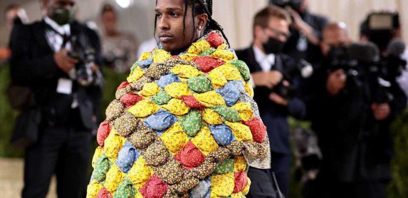 Irre: Trug A$AP Rocky bei Met Gala Tagesdecke einer Uroma?